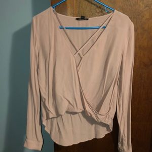 Long sleeve pink Forever 21 blouse